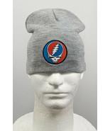 Grateful Dead Beanie Hat Gray Steal Your Face Lightning Skull Logo - $24.70