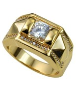 CC Rings For Women And Men Fashion Lovers' Set Ring Cubic Zirconia Yello... - £13.30 GBP