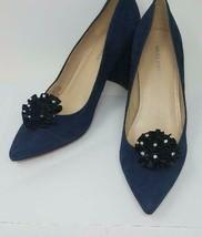 Black Color Clips for Shoes (2 piece), Black Flower Shoe Clips, Shoe Acc... - $7.99