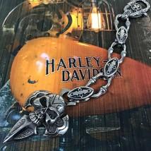 Men's 316L Stainless Steel Gothic Skull Cross Biker Keychain ( Hand Made ) - $44.54