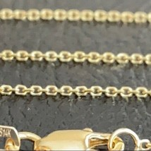 "14 k Solid Yellow Gold 1.05 mm Cable Chain Necklace - Adjustable 16""-18""... - $155.00"