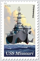 USPS Battleship USS Missouri Sheet of 20 Forever Stamps - $12.99