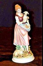 Young girl with 2 Lambs ANDREA by Sadek JAPAN 7553 AA18-1269VintageFigurine image 4