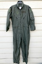 US AIR FORCE USAF NOMEX FIRE RESISTANT FLIGHT SUIT GREEN CWU-27/P - 40R #3 - $54.45