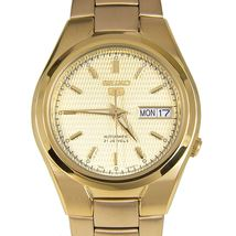 Seiko 5 SNK610K1 automatic men's watch gold-tone dial stainless steel bracelet - $145.00
