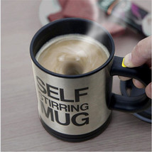 Smart Coffe Mug Self Stirring Cup Auto Mixing Tea Milk Gift Insulated Ho... - $16.99