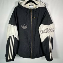 Adidas Vintage Originals 90's Men's Sz XL Track Trefoil Puffer Top Jacke... - $55.74