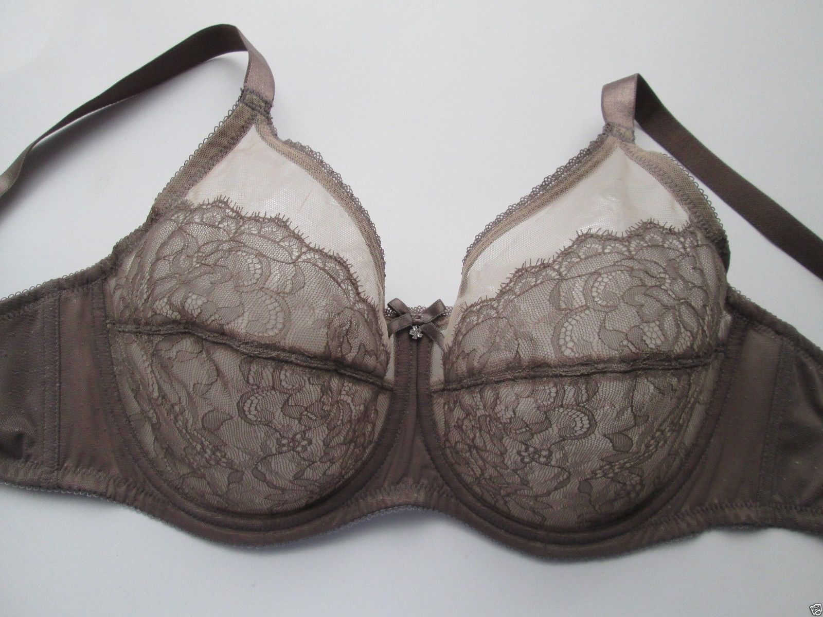 Wacoal 855186 Retro Chic Full Coverage Underwire Bra Brown 38D UPC89BAG214  - $28.21