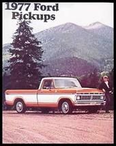 1977 Ford Pickup Truck RV Camper Brochure, Ranger - $8.34