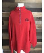 RALPH LAUREN Polo Jeans Co Mens Red Black Half Zip Fleece Size Xl - $14.30