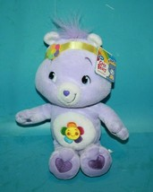 "Care Bears HARMONY BEAR 11"" Purple Plush Flowers Soft Toy Stuffed 2007 J... - $29.00"
