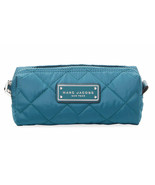 Marc Jacobs Cosmetic Bag Quilted Nylon Narrow Pouch Deep Sea NEW - $64.35
