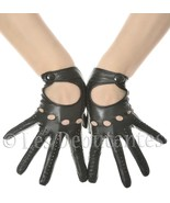 SEXY BLACK LEATHER DRIVING GLOVES VINTAGE PATTERN LES DEBUTANTES - $24.95