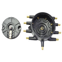 Low Profile Crab Style Replacement Distributor & Rotor Cap Male Black MSD Type image 4