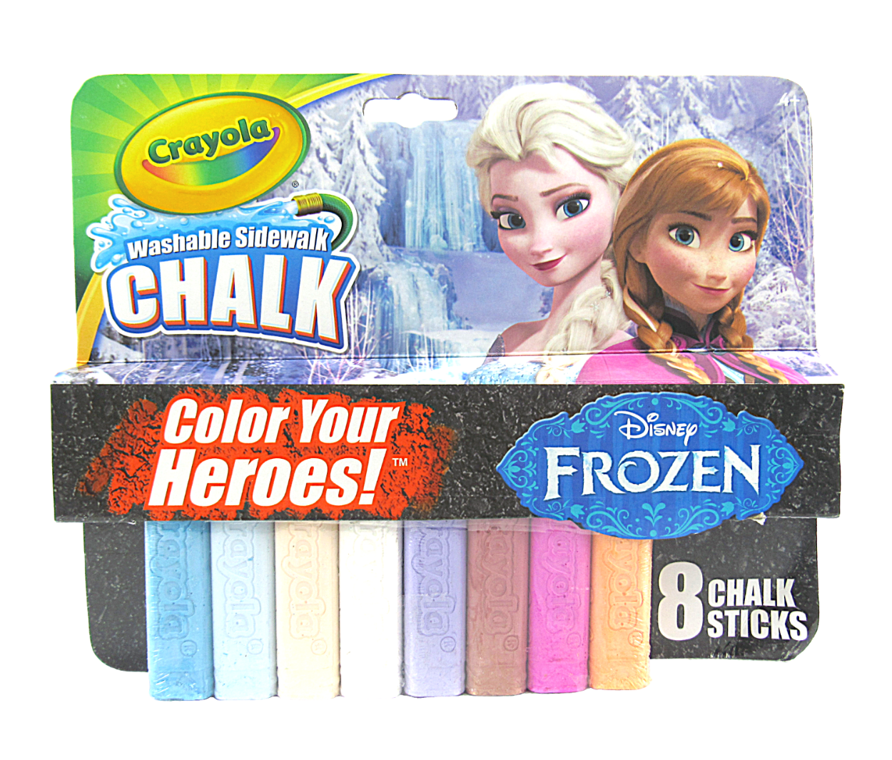 Primary image for Disney's Frozen Crayola Washable Sidewalk Chalk Color Your Heroes ~8 Count~