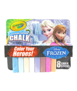 Disney's Frozen Crayola Washable Sidewalk Chalk Color Your Heroes ~8 Cou... - $12.66