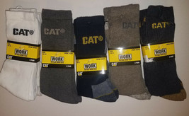CAT- Men's Work Crew Work Socks 3 -Pack Size 10-13 NWT - $11.89