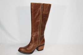 "Born ""Carney"" Leather Block Heel Tall Boot Size:6.5 US / 37 Euro - $74.25"