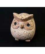 Very Heavy Owl Figurine Carved Granite Stone Doorstop FREE SHIPPING Peru - $49.00