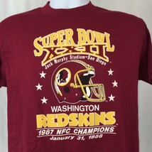VTG Washington Redskins Super Bowl XXII 22 1988 NFL Mens T Shirt Red Siz... - $20.18