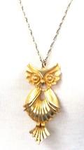 Torino Owl Pendant Necklace Vintage Figural - $23.09