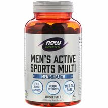Now Foods Sports Men's Active Sports Multi, 180 Softgels - $35.99