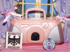 Barbie pink stereo boombox radio lot fits Fisher Price loving family dol... - $8.99