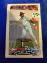 1989 LJN Topps Baseball Talk - #142 - Frank White - Kansas City Royals - MLB - $0.94