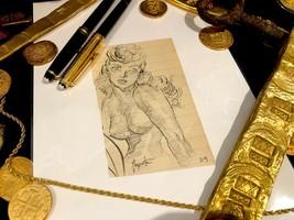Frank Frazetta Sketch Signed Female Study Origina Art 1950 Comic Book Art  - $3,950.00
