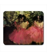 Dancers in Pink by Edgar Degas Ballerina Art Computer Mouse Pad Mat Mous... - $11.69