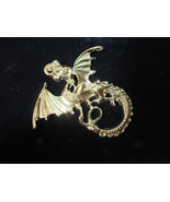 DRAGON PENDANT AND FREE CHAIN SILVER PLATED - $2.97