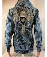 B6 Brooklyn girl Nets Women's Full Zip Hooded Sweatshirt Embroidery Size... - $37.10