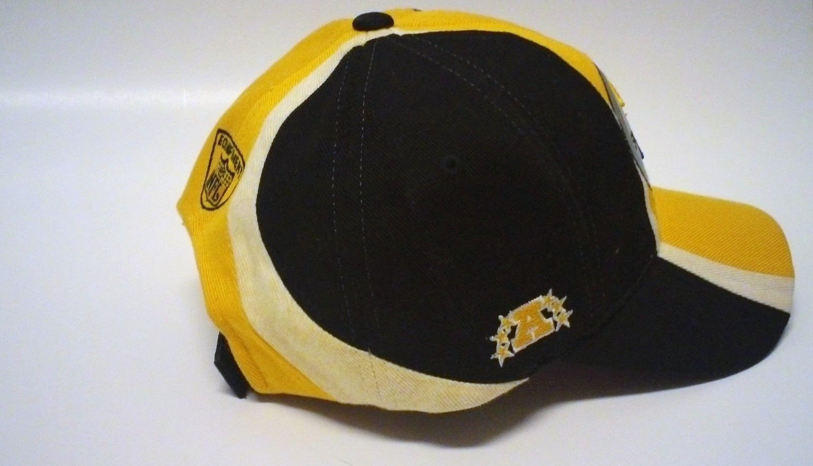 check out 15b08 16f0a Pittsburgh Steelers NFL Equipment Reebok Hat Cap Hook and Loop Closure OSFA