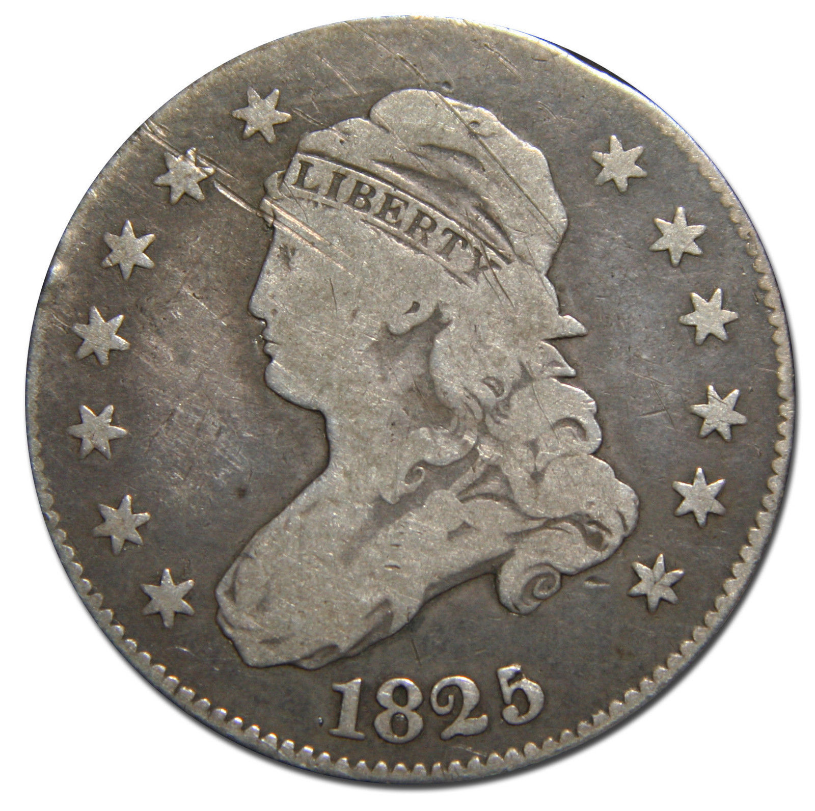 1825 Capped Bust Quarter Dollar 25¢ Coin Lot# MZ 3094