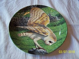 Danbury Mint Wedgwood owl Plate The Majesty of Owls Barn Owl Trevor Boyer CP1503 - $35.67