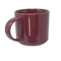 Starbucks Coffee Mug Cup 2013 Burgundy Stackable 14 oz Embossed - $8.90