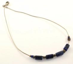 Silpada Sterling Silver Sodalite Stone w/ Omega Chain Necklace Nc 773 - $49.99