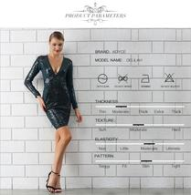 Winter Luxury Sequin Sexy V Neck Bandage Party Dress image 4