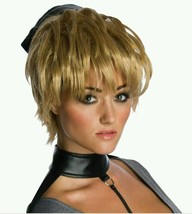 Rocket Costume Wig Sucker Punch Adult Womens Short Teased Dirty Blonde Halloween - $14.99