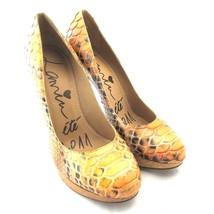 K-L19280 New Lanvin Heels Pump Snakeskin Platform Shoes Patent Size 9 39... - $279.99