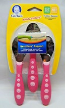 Gerber Kiddy Cutlery Spoons 3 Pack - Pink By Nuk - $11.00