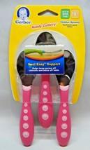 Gerber Kiddy Cutlery Spoons 3 Pack - Pink By Nuk - $11.00