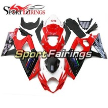 Red Black Body Work for Suzuki 2007 2008 GSXR1000 Fairings K7 07 08 Body Frames - $441.31