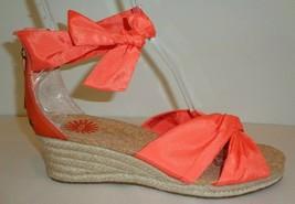 UGG Australia Size 10 STARLA Orange Leather Jute Wedge Sandals New Women's Shoes - $117.81