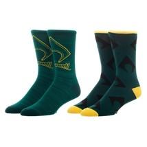 Aquaman Logo DC Comics Adult Athletic Crew Mens 2 Pack Socks Nwt - $9.99
