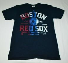 Boston Red Sox MLB Majestic Brand Red White Blue Yawkey Way T-Shirt Men's M - $24.63
