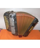 HOHNER BUTTON ACCORDION 3 ROW DIATONICGrey Marblec Color Mother Of Pearl - £460.47 GBP
