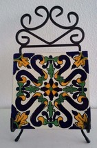 Beautiful Hand Painted Mexican Talavera 6 x 6 Tile - $22.00