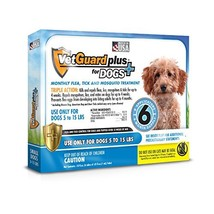 VetGuard Plus Flea & Tick Treatment for Small Dogs, 5-15 lbs, 6 Month Su... - €22,03 EUR