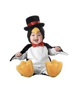 INCHARACTER LIL PENGUIN TOP HAT BOW INFANT BABY Toddler HALLOWEEN COSTUM... - £36.99 GBP